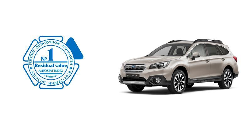 Subaru вошел в тройку лидеров в рейтинге ликвидности в России